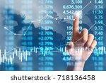 businessman plan graph growth... | Shutterstock . vector #718136458
