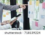 young startups businessmen...   Shutterstock . vector #718139224