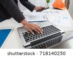 business people negotiating a... | Shutterstock . vector #718140250