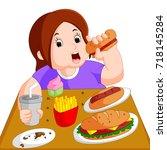 vector illustration of... | Shutterstock .eps vector #718145284