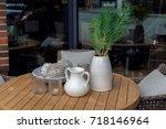 scandinavian home decor. ... | Shutterstock . vector #718146964