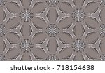 seamless pattern. snowflakes... | Shutterstock .eps vector #718154638