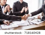 group asia businessman together ... | Shutterstock . vector #718160428