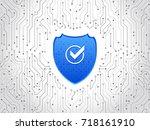 abstract high tech circuit... | Shutterstock .eps vector #718161910