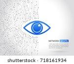 abstract high tech circuit... | Shutterstock .eps vector #718161934