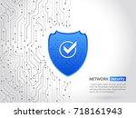 abstract high tech circuit... | Shutterstock .eps vector #718161943