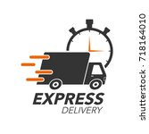 express delivery icon concept.... | Shutterstock .eps vector #718164010