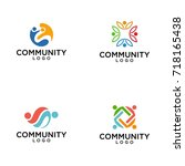 community  network and social... | Shutterstock .eps vector #718165438