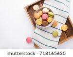 Assortment Of Macarons In A...