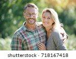 portrait of mature couple... | Shutterstock . vector #718167418