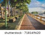 krabi  thailand   jun 4  2017   ... | Shutterstock . vector #718169620