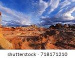 vermilion cliffs national... | Shutterstock . vector #718171210