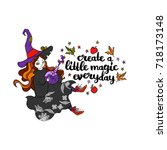 create a little magic everyday. ... | Shutterstock .eps vector #718173148
