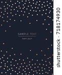 vector dark background with... | Shutterstock .eps vector #718174930