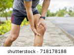 knee pain | Shutterstock . vector #718178188