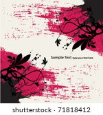 abstract grunge floral... | Shutterstock .eps vector #71818412