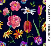 nostalgia vintage garden.... | Shutterstock .eps vector #718184500