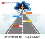 milestone timeline infographic...   Shutterstock .eps vector #718188304