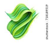 3d render  abstract brush... | Shutterstock . vector #718189519