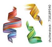 3d render  abstract brush... | Shutterstock . vector #718189540