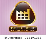 gold emblem or badge with... | Shutterstock .eps vector #718191388