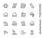 house  property  insurance ... | Shutterstock .eps vector #718192450