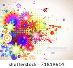abstract floral spring... | Shutterstock .eps vector #71819614
