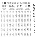 set of 400 minimal and solid... | Shutterstock .eps vector #718196158