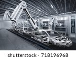 3d rendering robot assembly... | Shutterstock . vector #718196968