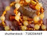 Amber Beads Round Fashion...
