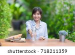 in selective focus of mineral... | Shutterstock . vector #718211359