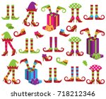 vector collection of cute... | Shutterstock .eps vector #718212346