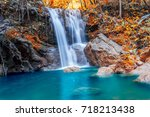 seasons of leaves change color... | Shutterstock . vector #718213438