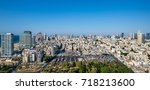 tel aviv skyline in sun set..... | Shutterstock . vector #718213600