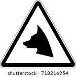 caution hidden drive ahead sign | Shutterstock .eps vector #718216954