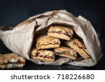 cookies filled with jam in a... | Shutterstock . vector #718226680