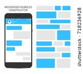 messenger and social network... | Shutterstock .eps vector #718236928