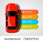 car racing info art cover.... | Shutterstock .eps vector #718237513