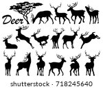 visual drawing silhouettes of... | Shutterstock .eps vector #718245640