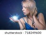 modern tribal gypsy girl style | Shutterstock . vector #718249600