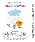 delicate customizable baby... | Shutterstock .eps vector #718254544