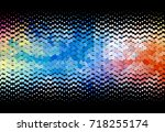 abstract halftone background.... | Shutterstock . vector #718255174