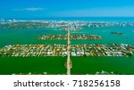 venetian islands  miami beach ...   Shutterstock . vector #718256158