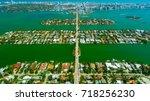 venetian islands  miami beach ...   Shutterstock . vector #718256230