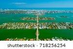 venetian islands  miami beach ...   Shutterstock . vector #718256254