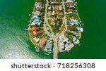 venetian islands  miami beach ...   Shutterstock . vector #718256308