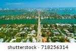 venetian islands  miami beach ...   Shutterstock . vector #718256314