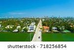 venetian islands  miami beach ...   Shutterstock . vector #718256854