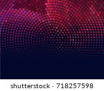 abstract halftone background.... | Shutterstock . vector #718257598