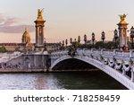 alexandre iii bridge in paris | Shutterstock . vector #718258459
